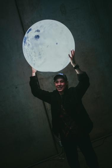 Moon by Vincent Fink. Photo by Jean Velez